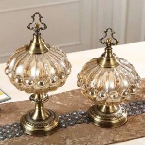 décoration de mariage luxe doux ornements réservoir de stockage cuisine style européen salon table à thé avec couvercle de pot de bonbons