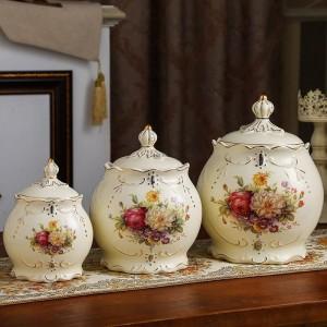 décoration de mariage pot en céramique scellé réservoir de stockage grain grains divers canettes de thé cornichons pots cuisines canettes de bonbons