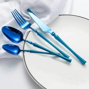 Vaisselle Western Vaisselle De Luxe Set Couteaux Fourchettes Cuillères Cuillères À Thé Cuillère À Dîner Classique Set De Fête De Mariage Kit de Cuisine Outils