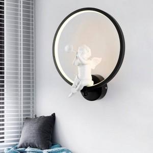 Blanc / Noir Acrylique Créatif Moderne Led Applique Murale Ange Enfant Chambre Chevet LED Applique Salle De Bains Applique Lustres