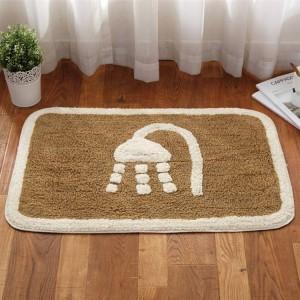Hiver épais chaud salle de bain salon tapis de sol porte tapis maison chambre coton tapis salle de bains absorbant tapis antidérapant