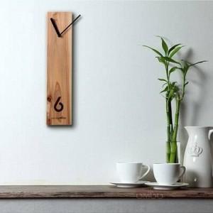 Horloge en bois Horloge créative en bois Horloge de bûche Conception silencieuse Horloge murale de salon Table de réunion de bureau