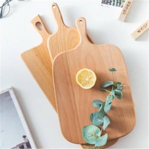 Blocs à découper en bois Hêtre Pizza Pain Fruits Légumes Planche À Découper Hangable Durable Antidérapant Maison Cuisine Outils Accessoires