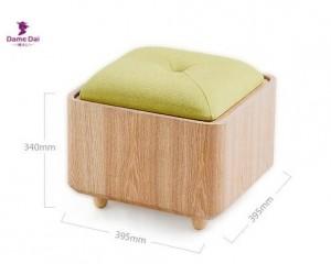Tabouret De Rangement En Bois Organisateur Tabouret Banc Repose-Pieds Table Basse Cube Ottomane Meubles Tissu Coussin Dessus Ottoman Siège