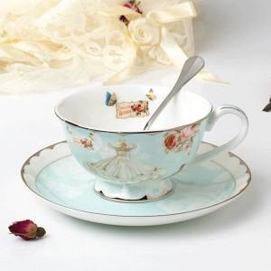 Ensemble de tasse à thé et de soucoupe en céramique Designer Tasse à café en porcelaine Après-midi Ensemble de tasse à thé noir Ensemble à café