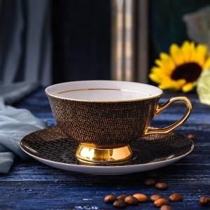 Tasses à café en porcelaine de haute qualité Vintage tasses et soucoupes en céramique Set tasse à thé Drinkware pour le café